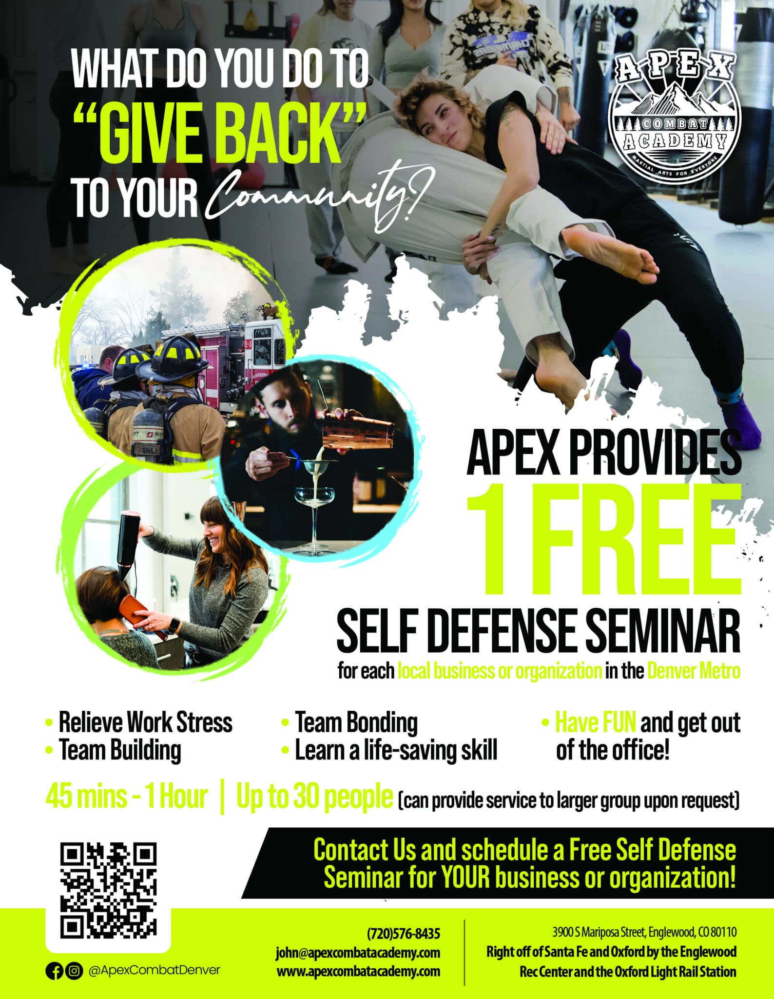 Apex Combat Academy Business Self-Defense Seminar