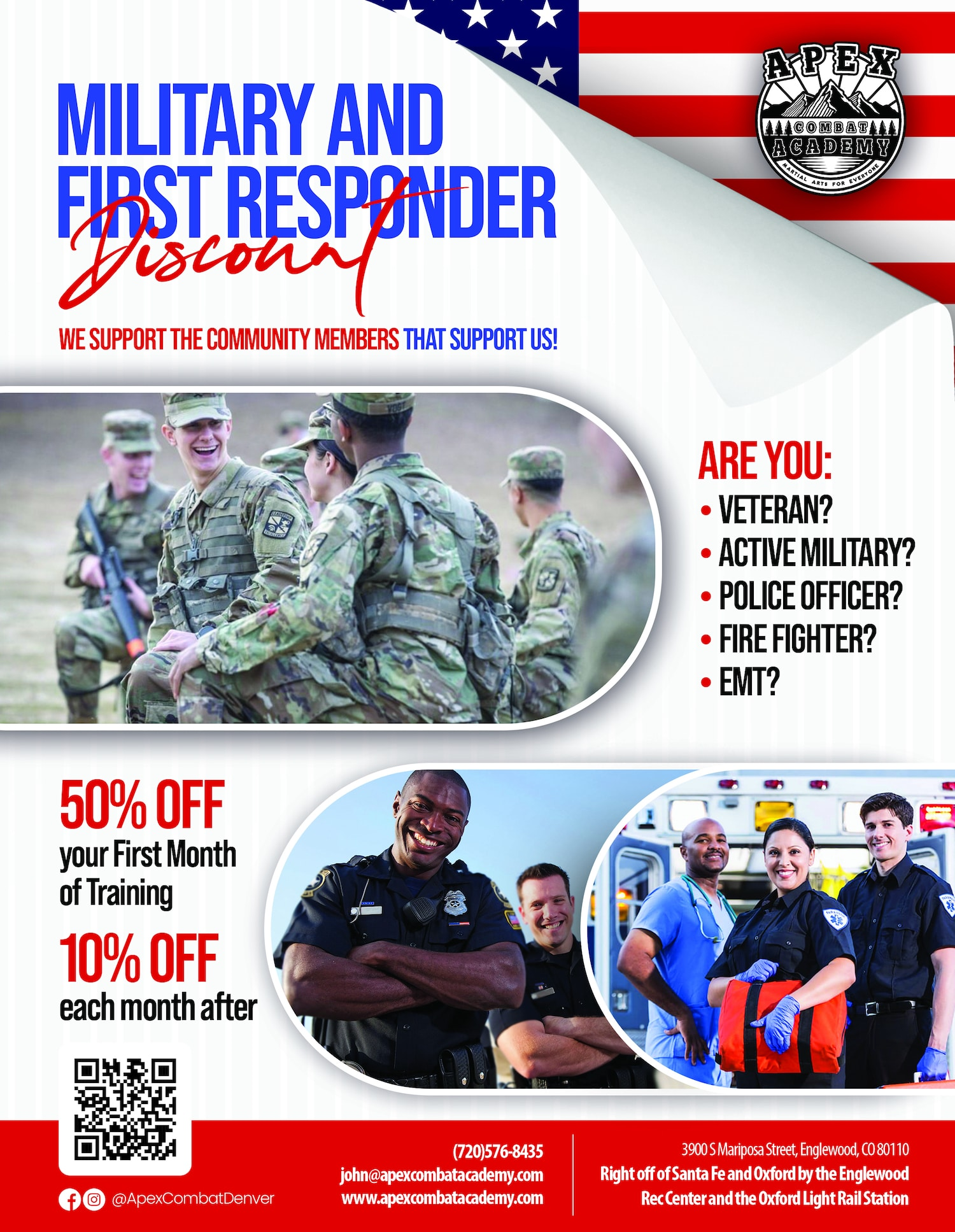 Apex Combat Academy Military & First Responders Discount